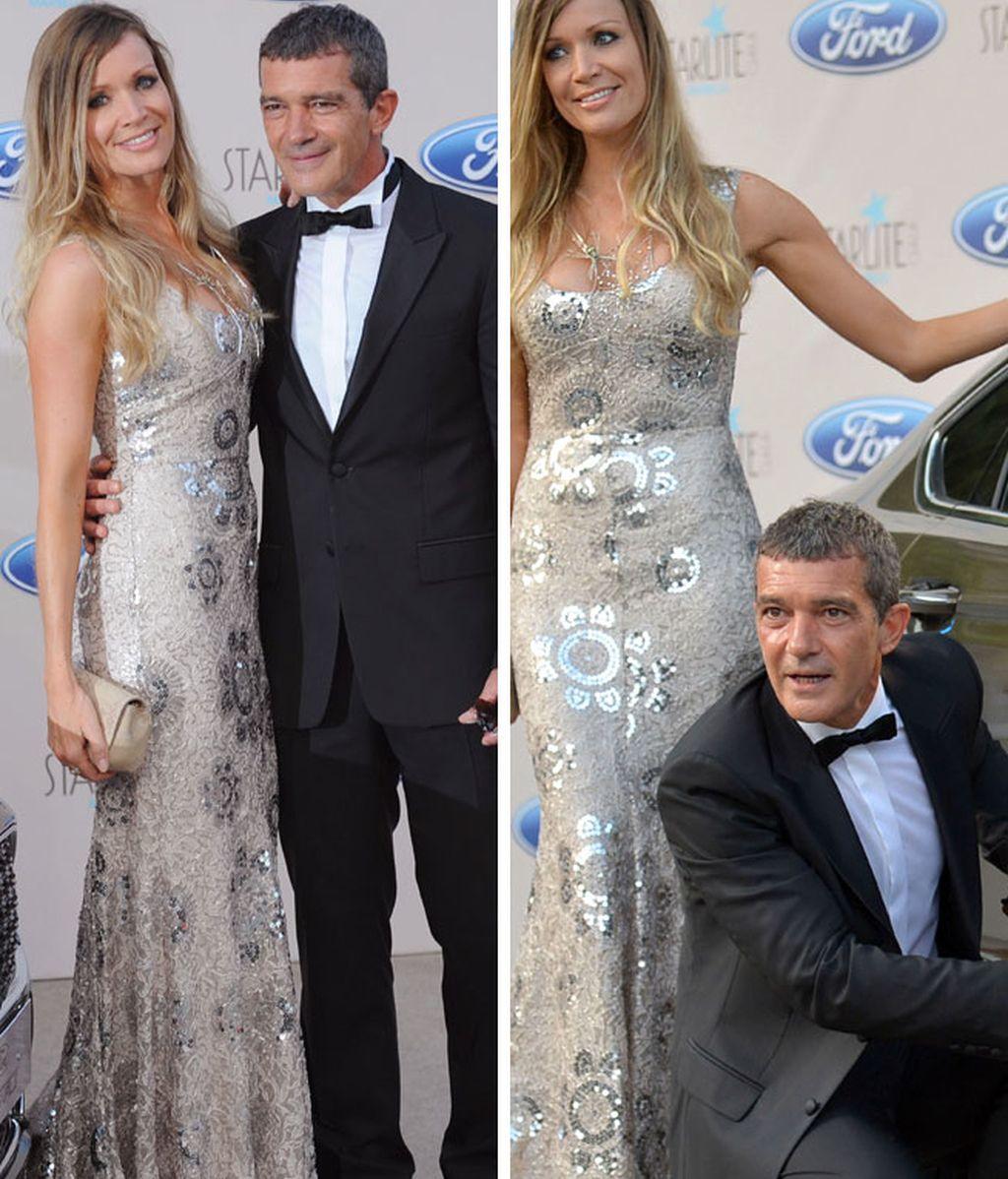 Antonio Banderas y su novia Nicole fueron los protagonistas de la noche