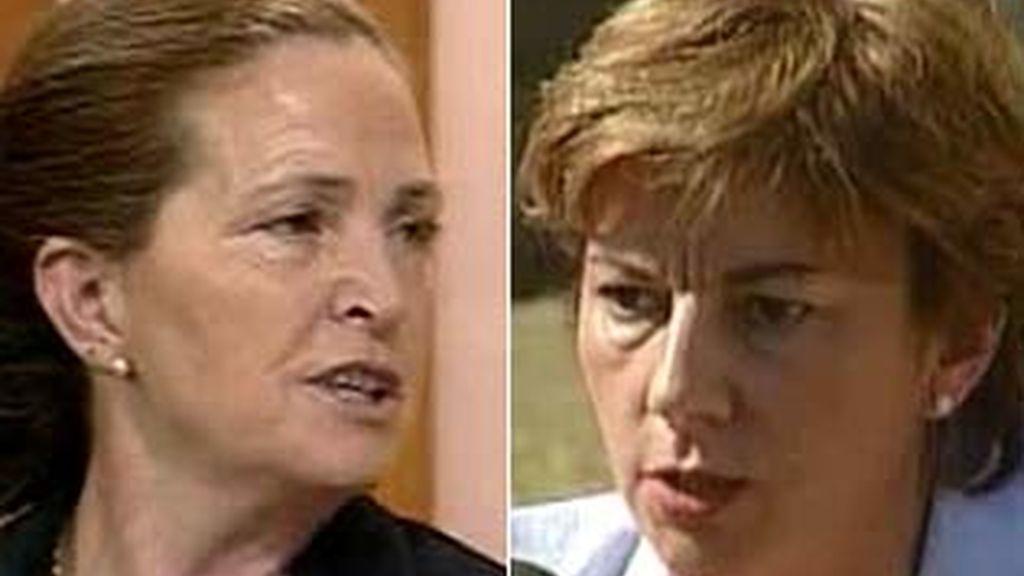 La madre de la víctima frente a la sospechosa de asesinato