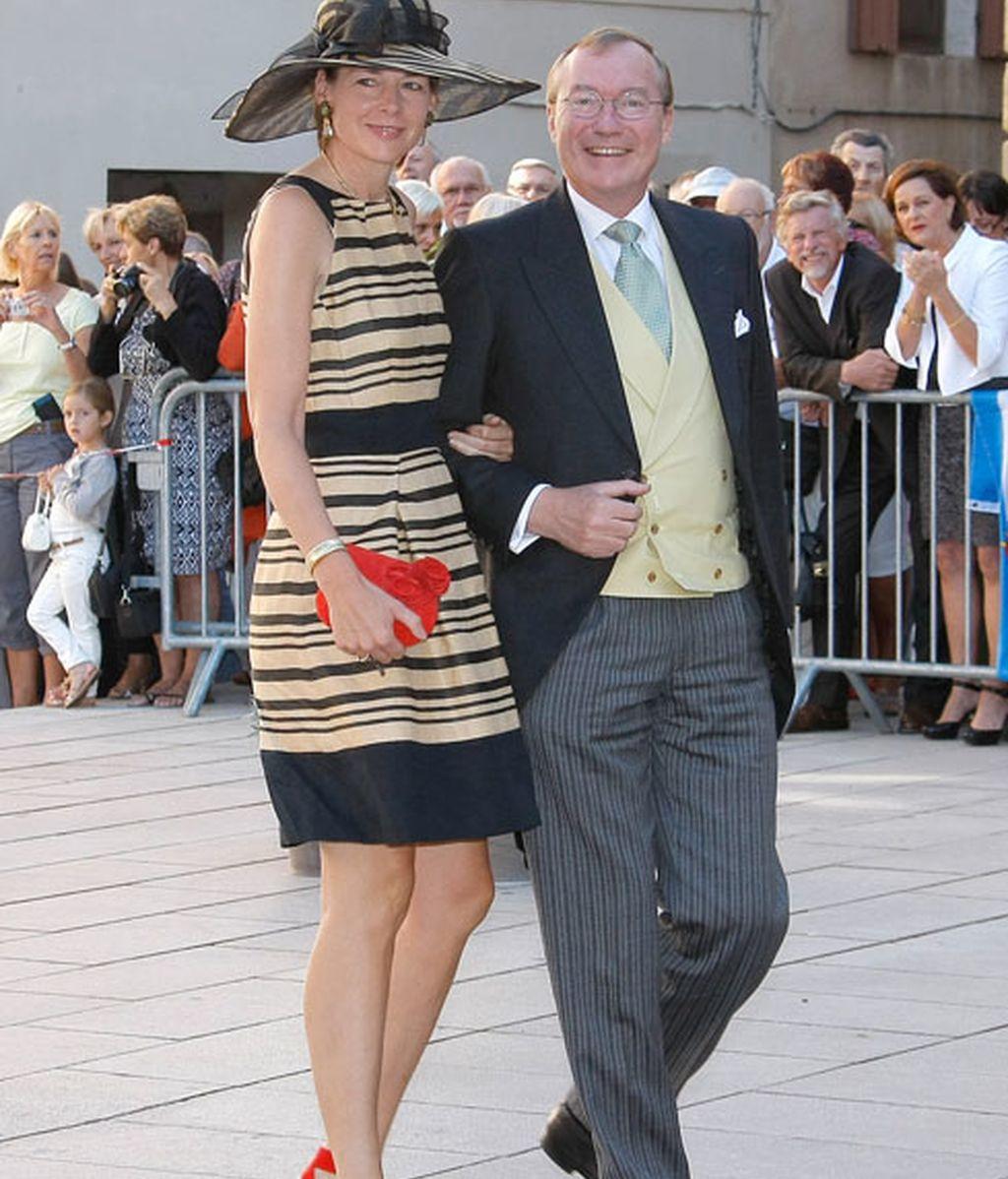 El príncipe Jean de Luxemburgo y la condesa Diane de Guerre