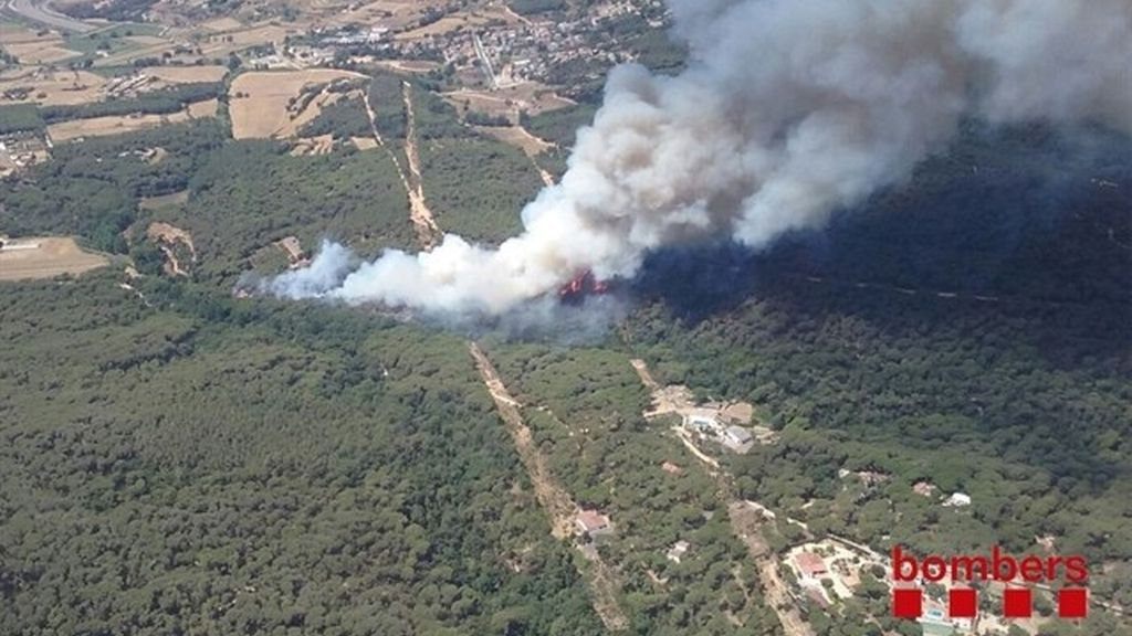 Incendio en Blanes, Girona