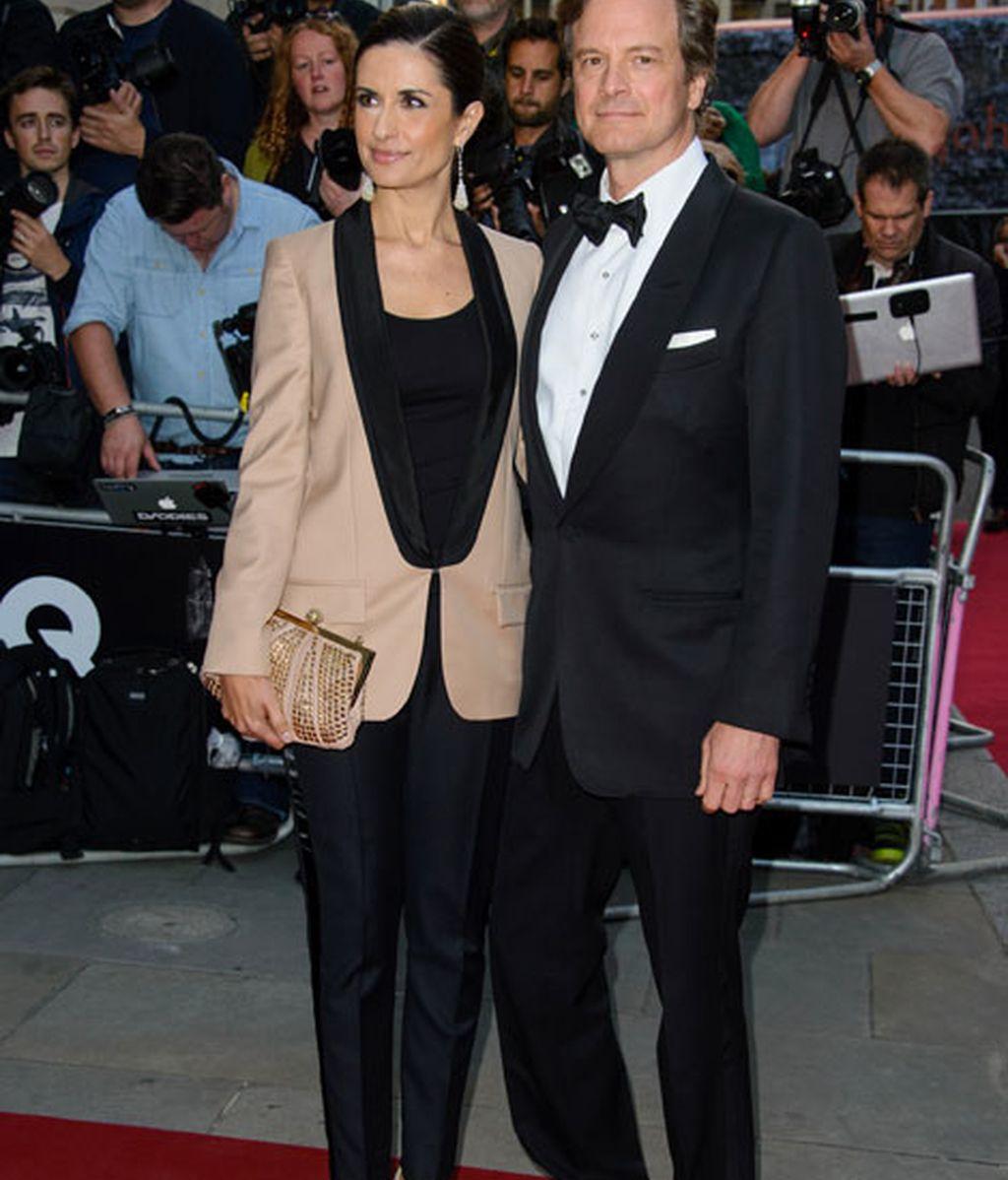 Colin Firth acudió junto a su mujer Livia