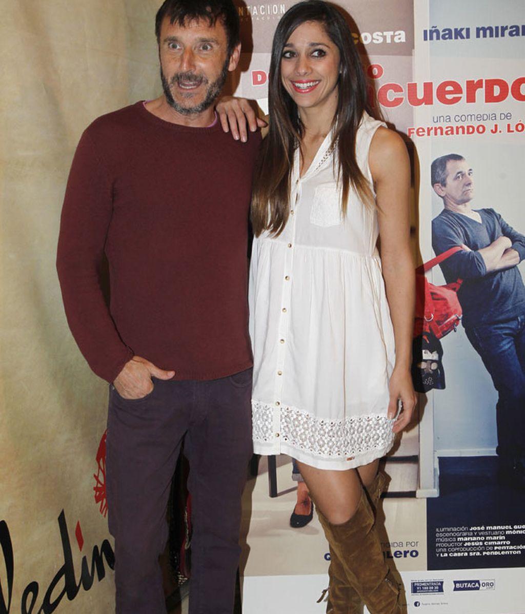 Los actores Carlos Chamarro y Mariam Hernández posaron juntos