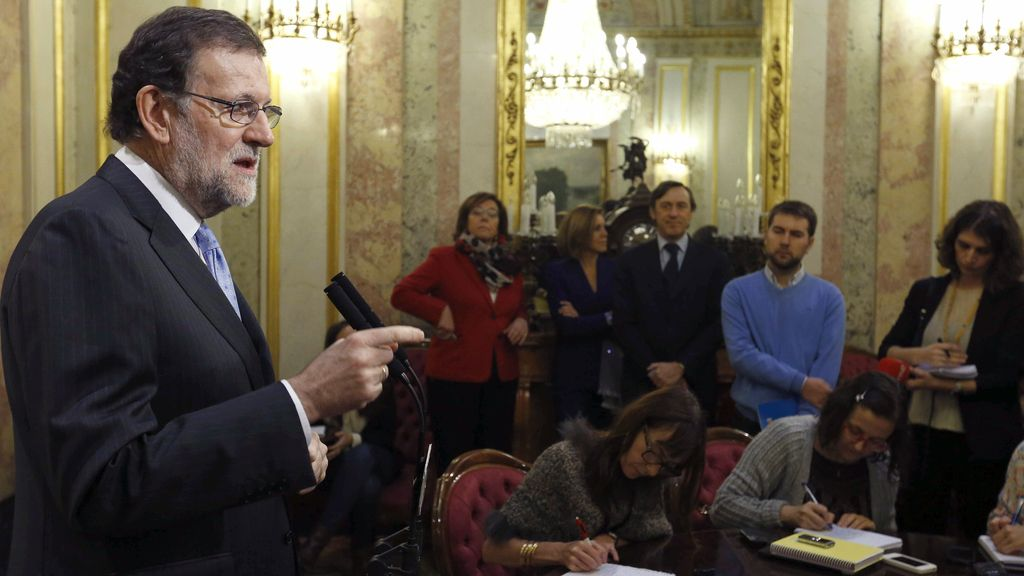 El presidente en funciones, Mariano Rajoy, insiste en el acuerdo de gobierno con PSOE y Ciudadanos