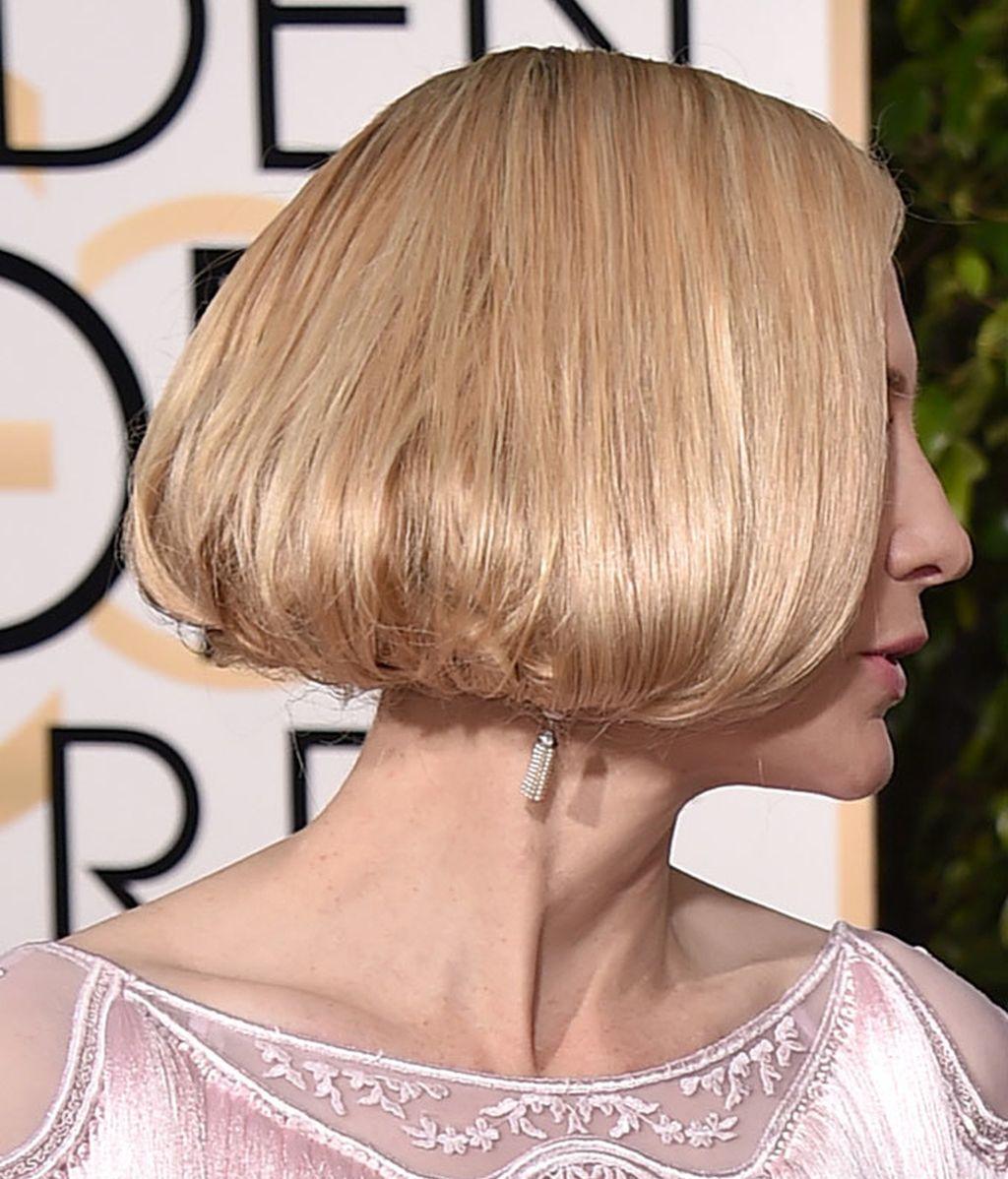 Detalle del falso bob de Cate Blanchett