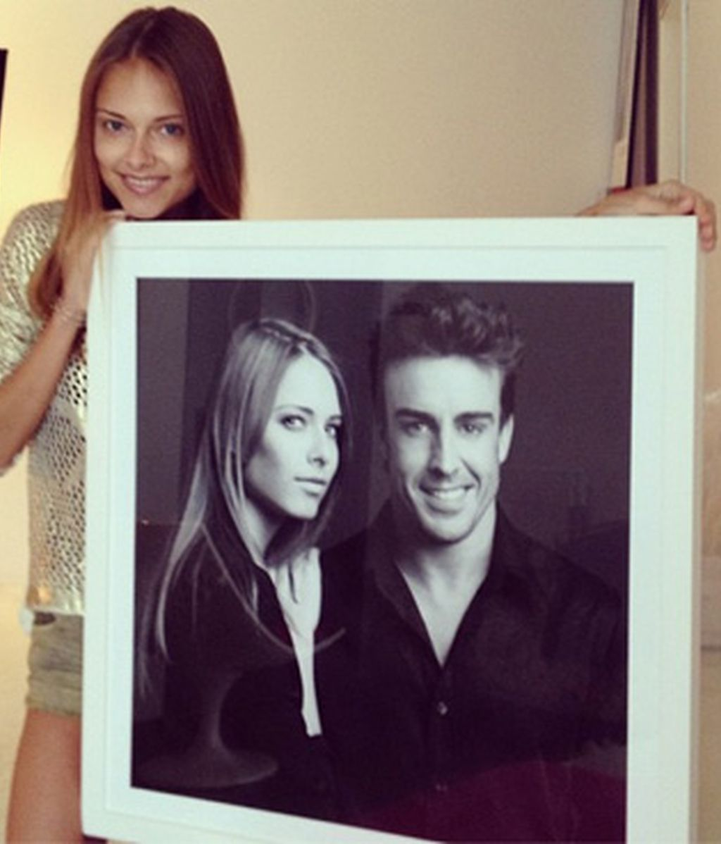 Fernando Alonso y Dasha Kapustina, más felices que nunca