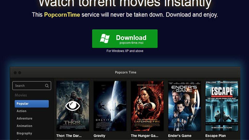 películas pirateadas,Popcorn Time,Time 4 Popcorn, películas online, streaming