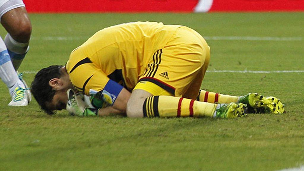 Iker Casillas fue el portero titular ante Uruguay