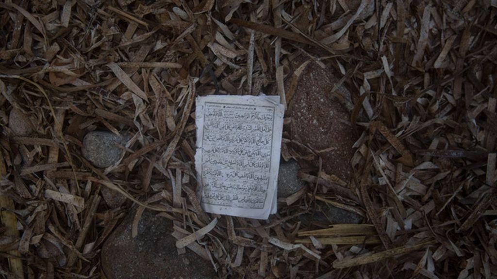 Biberones, fotografías, restos del Corán…