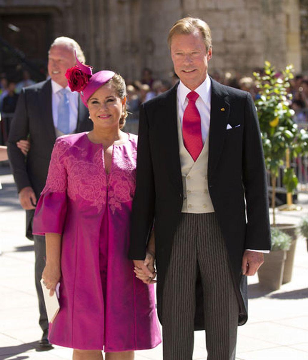 La Gran Duquesa de Luxemburgo, Maria Teresa, y el Gran Duque, Henri