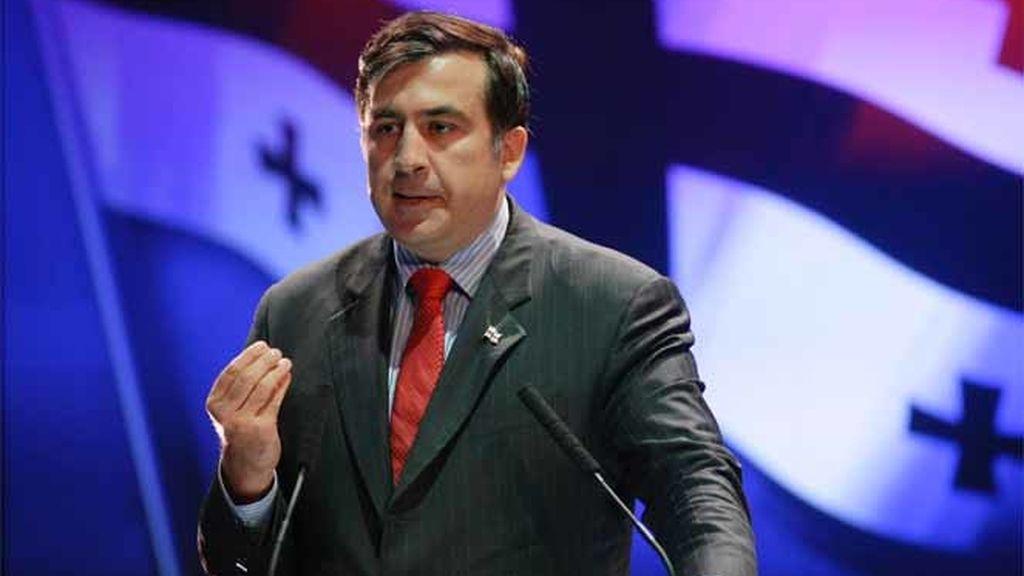 El presidente de Georgia, Mijaíl Saakashvili, durante una congreso de EPP