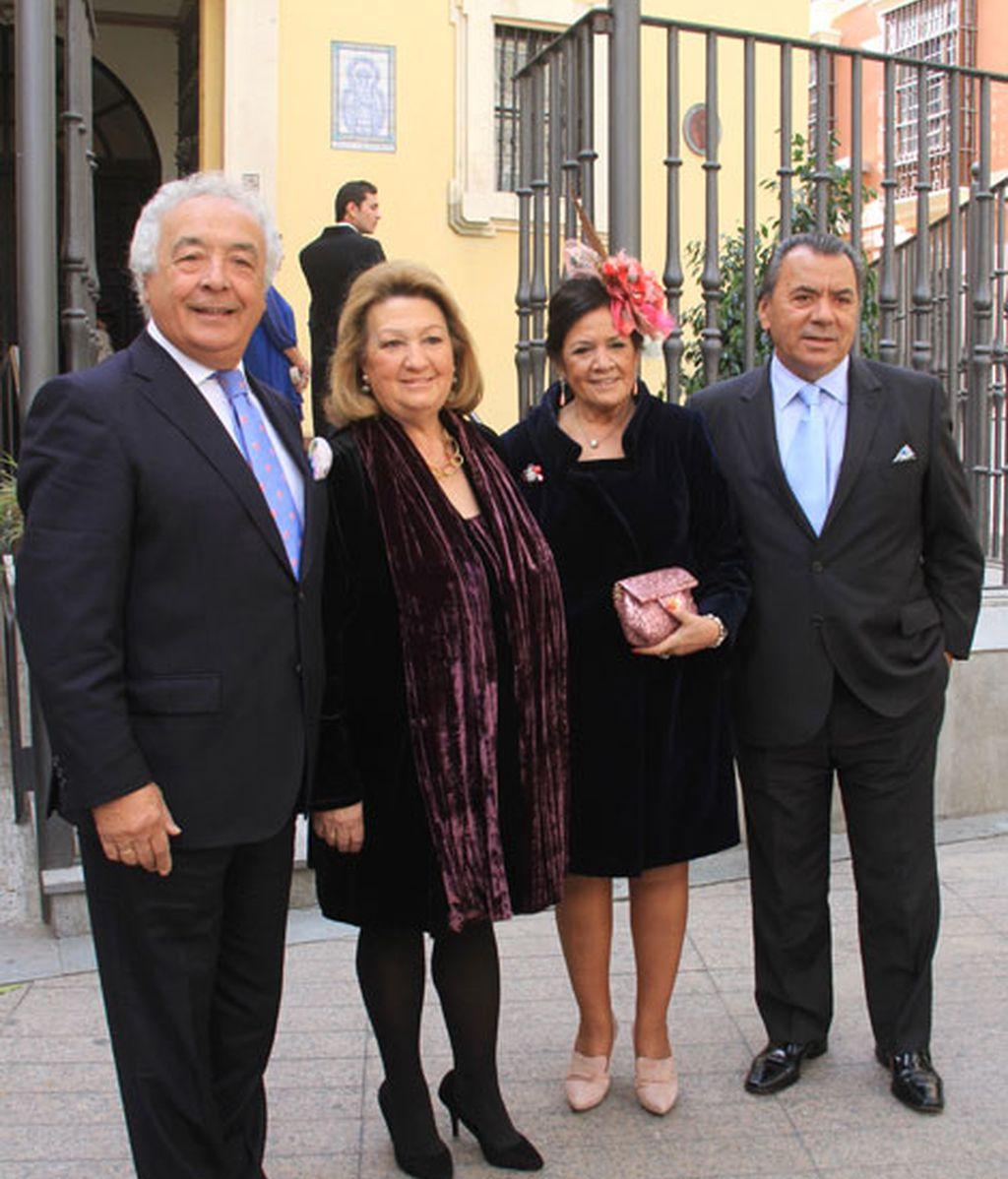 Antonio Romero y Rafael Ruiz, 'Los del Río', también fueron a la boda
