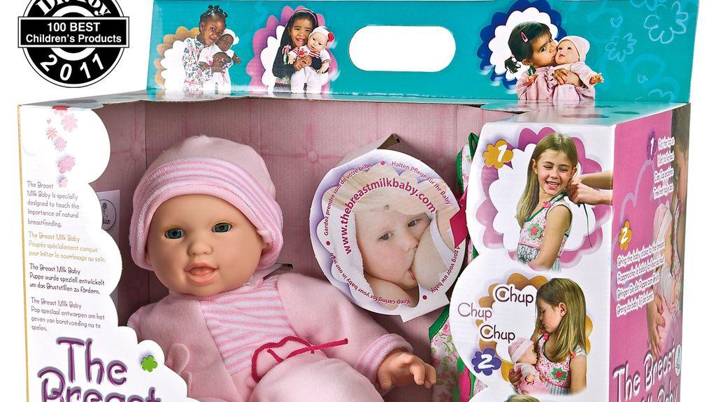 Una muñeca polémica por incluir un pecho postizo para que las niñas den de mamar