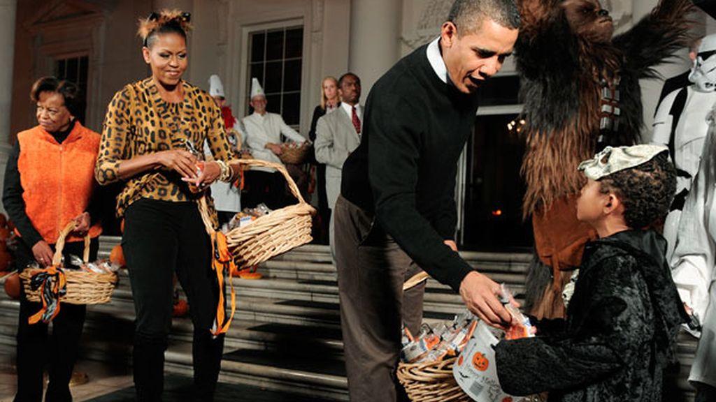 Los Obama celebran Halloween