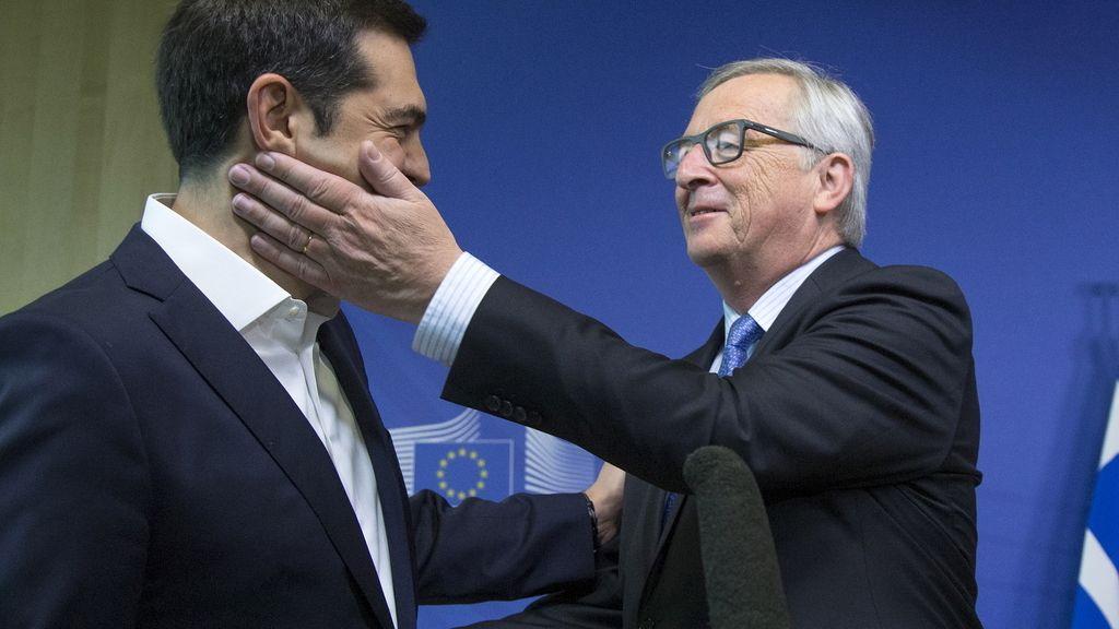 Jean-Claude Juncker y Alexis Tsipras