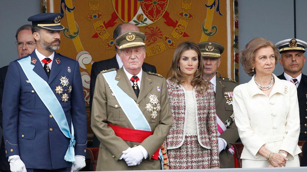 La Familia Real en la Tribuna de Autoridades