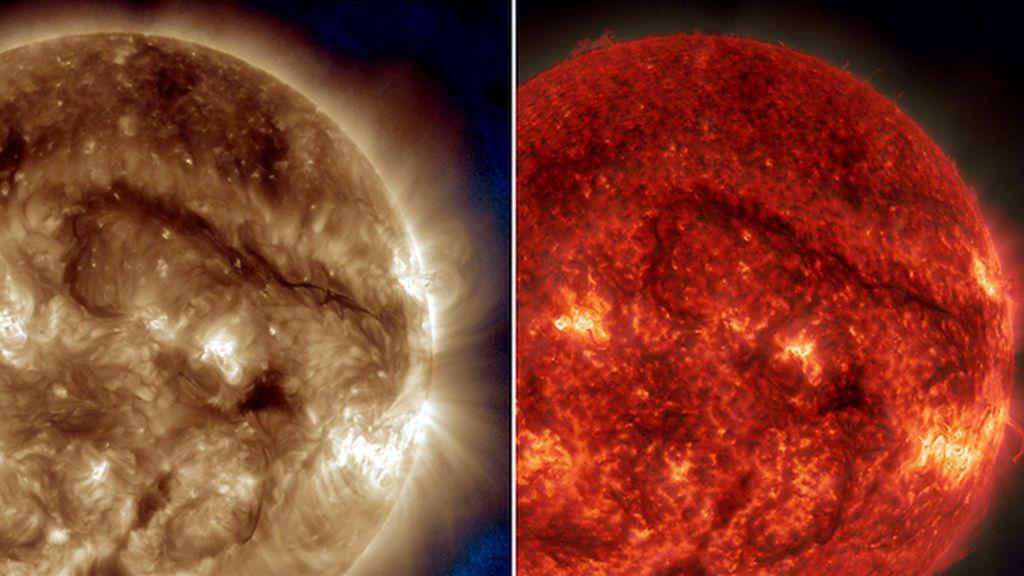 Un filamento gigante se adueña del Sol