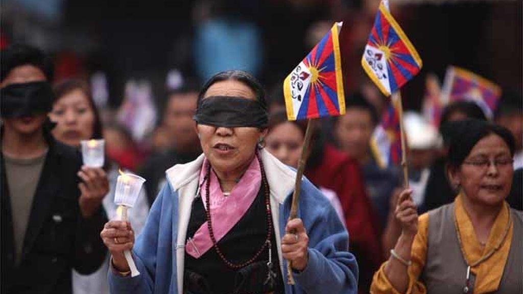 Protesta en el Tíbet
