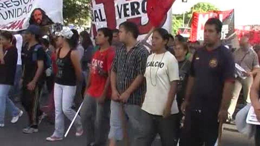 La violencia de los piqueteros en Argentina