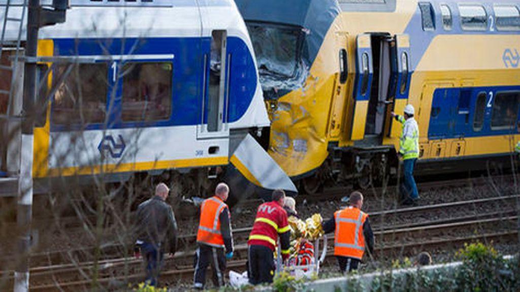 Choque de trenes en Ámsterdam