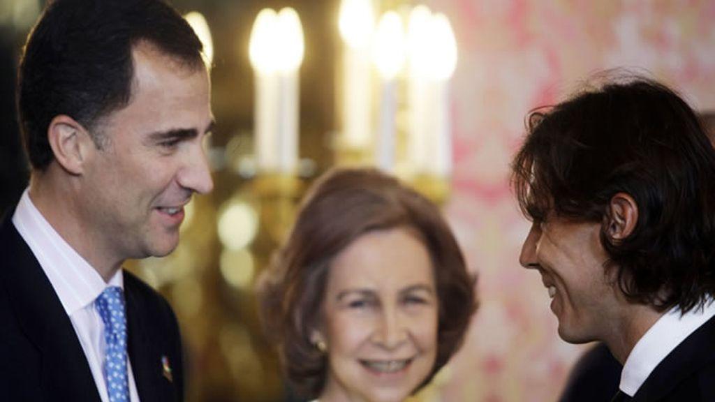 Rafa Nadal saluda al Príncipe de Asturias