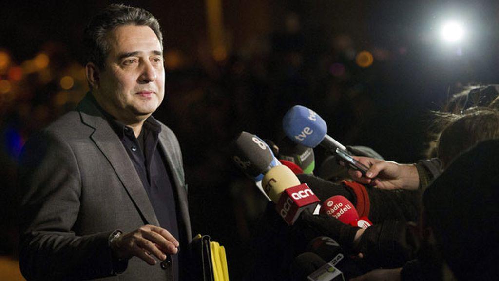 Manuel Bustos, alcadel de Sabadell después de declarar ante el juez