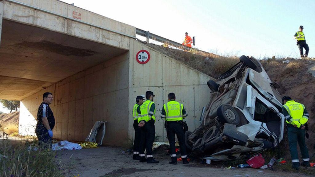 Cinco muertos por un accidente en la autovía entre Lorca y Águilas