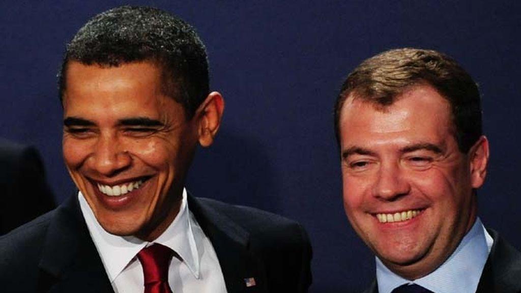 Medvedev y Obama posan juntos en la cumbre del G-20