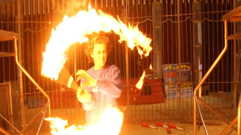 Malabares con fuego