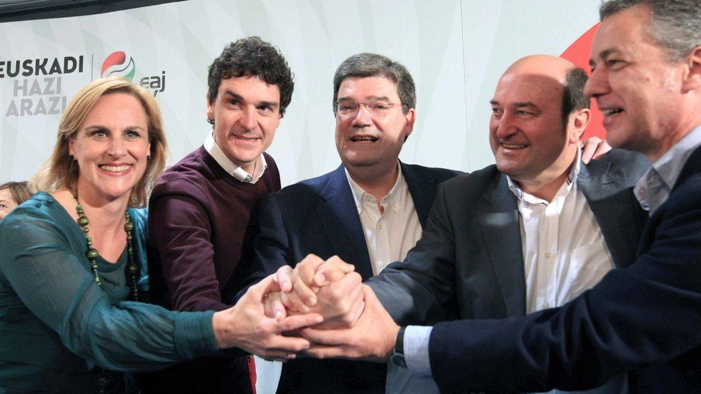 PNV vence en los tres Territorios vascos