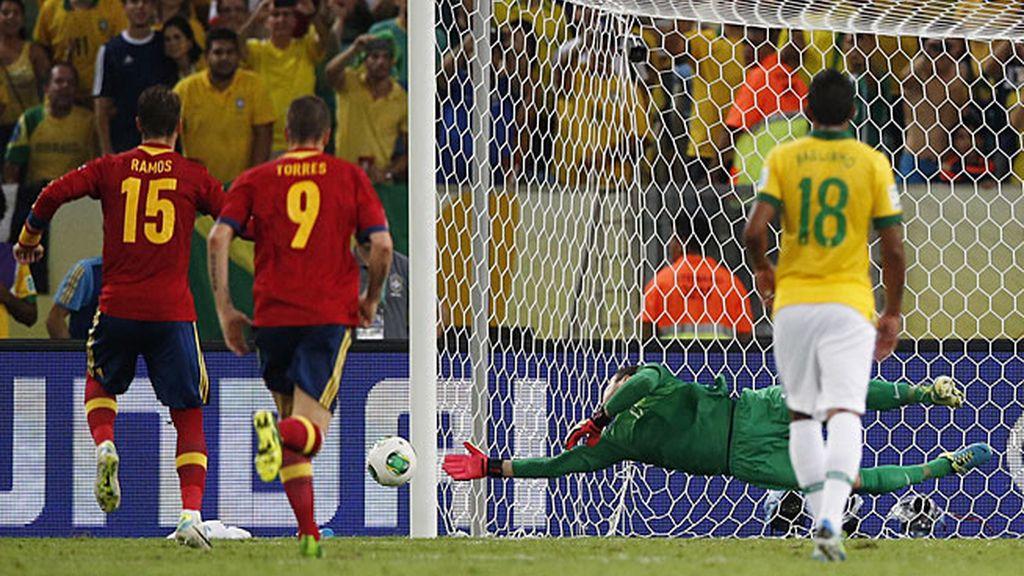 Sergio Ramos falló un penalti en la segunda parte