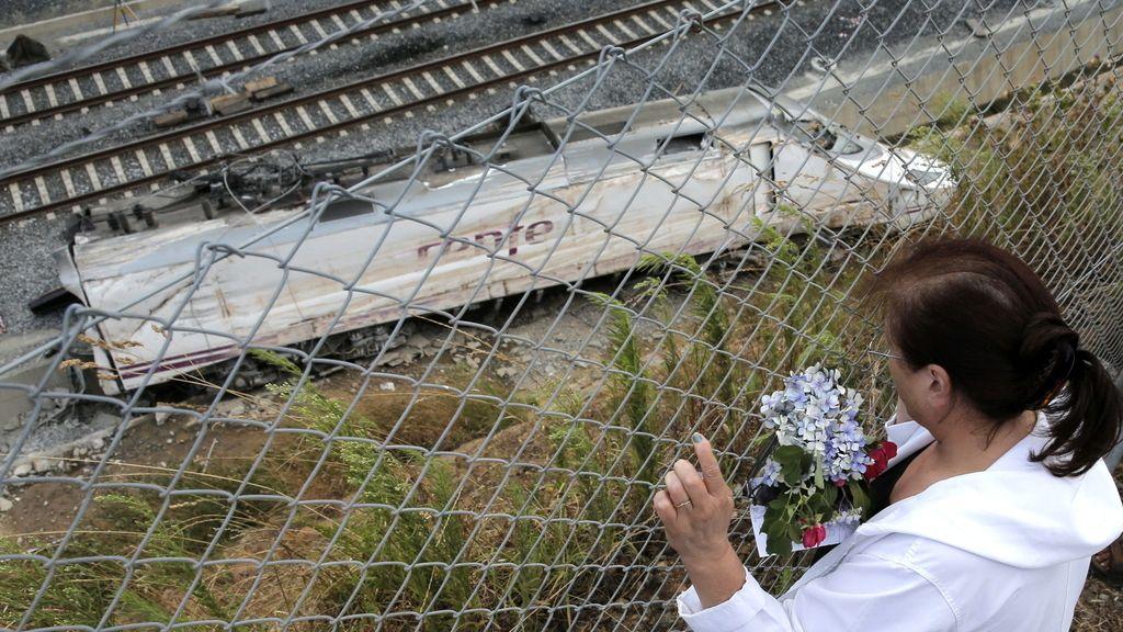 Tragedia de tren en Santiago. Foto: EFE