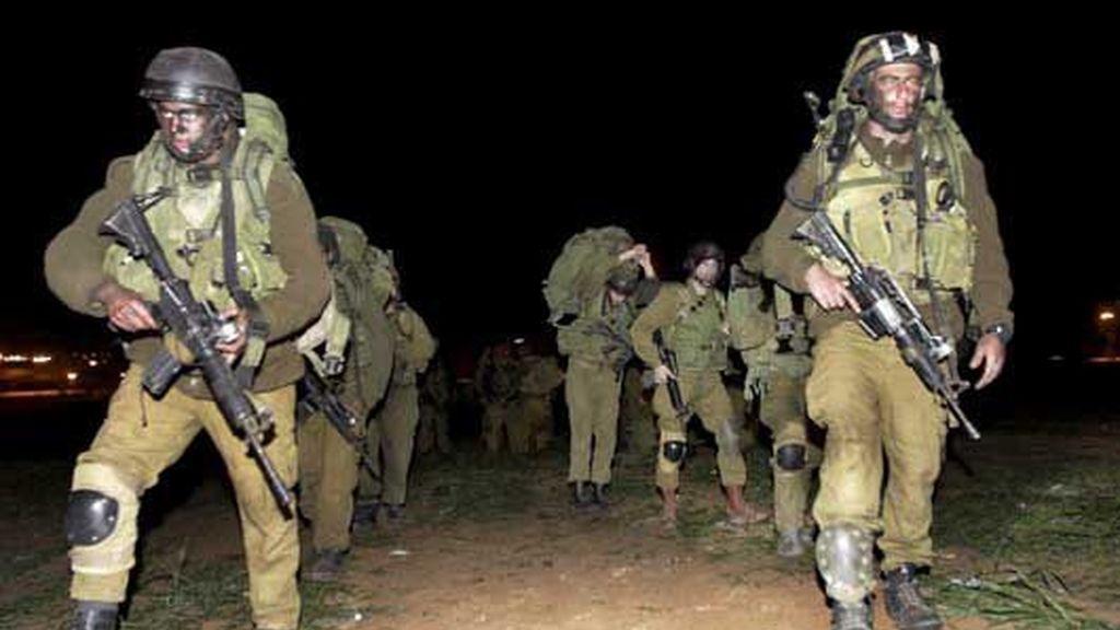 Soldados israelíes en la Franja de Gaza