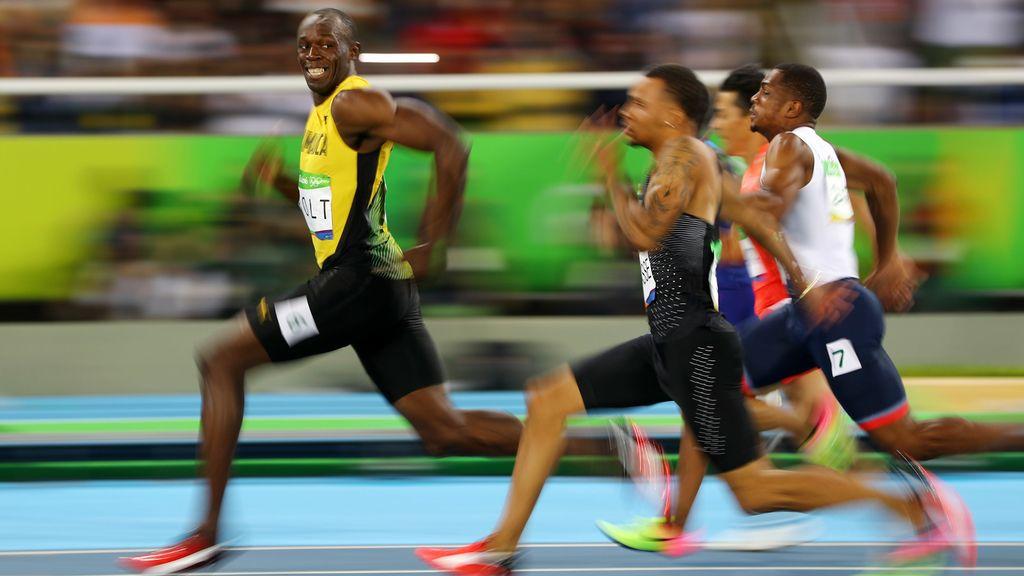 La sonrisa de Usain Bolt, símbolo de su superioridad física