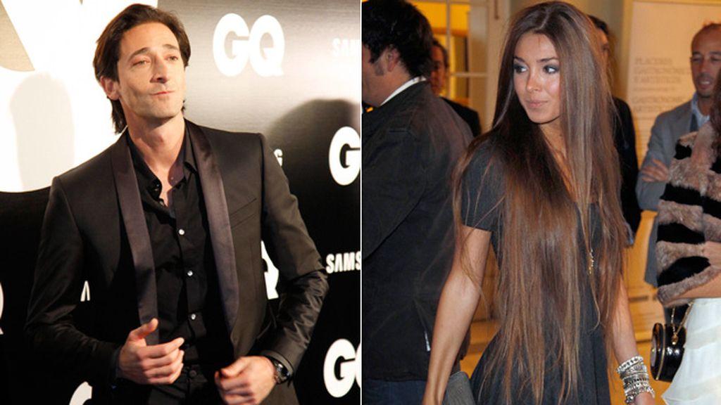 Adrien Brody, seductor nato, acudió a la entrega de premios acompañado por su nueva novia
