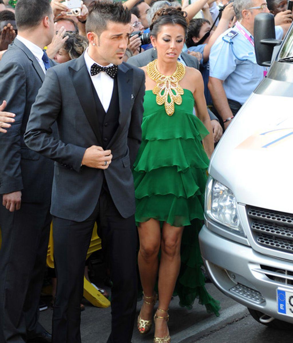 David Villa con Patricia González
