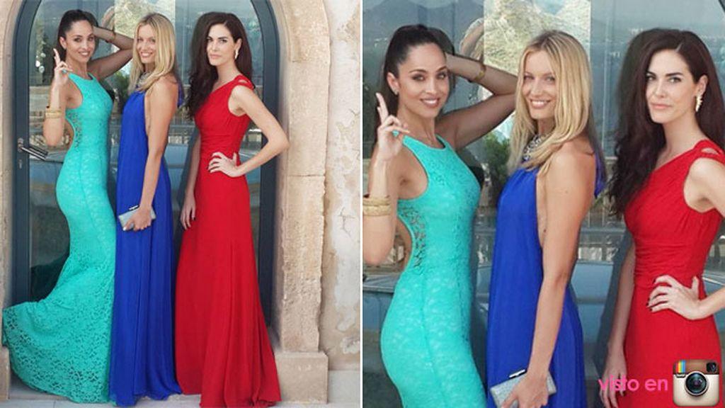 Lorena Van Heerde posa junto a las modelos Renata Zauchí y Natalia Zábala
