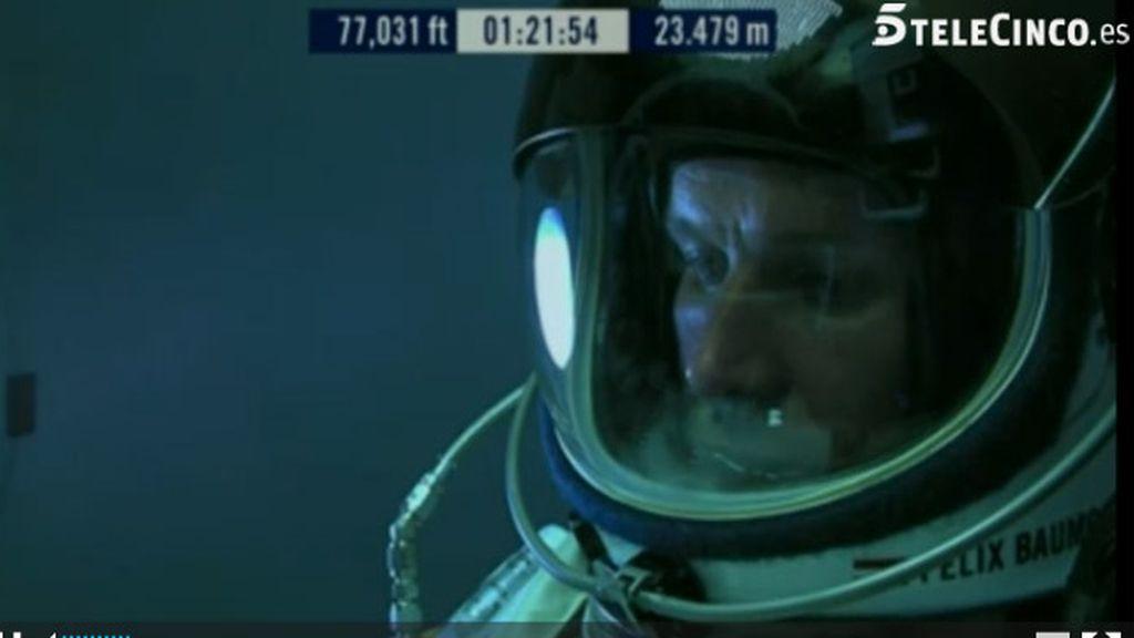 Salto desde la estratosfera. Foto: telecinco.es