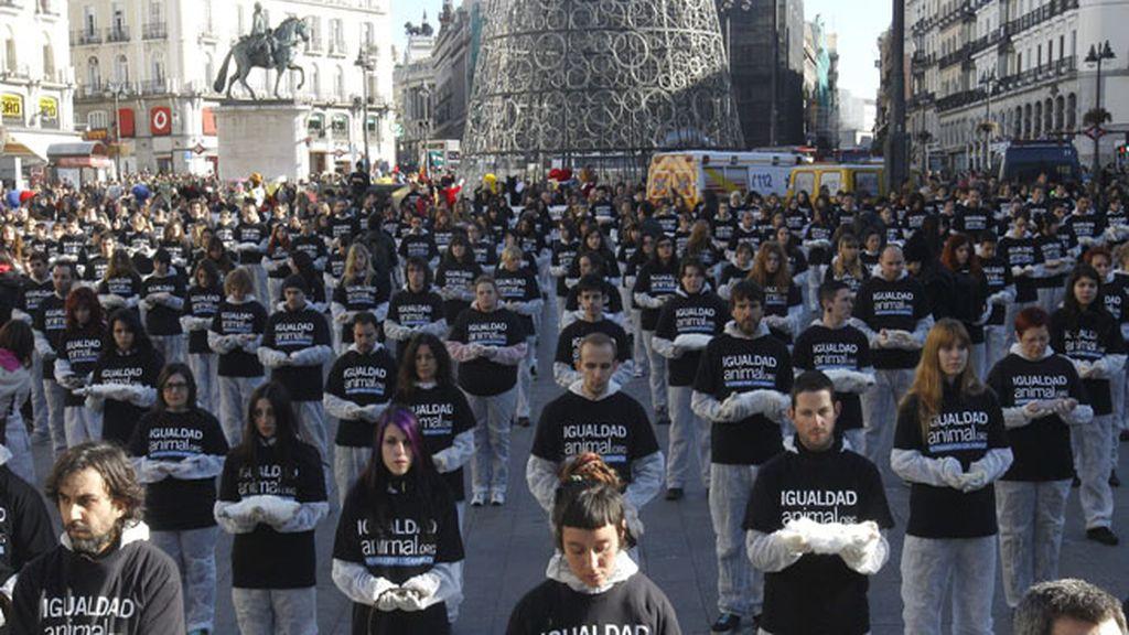 Protesta de Igualdad Animal en Madrid