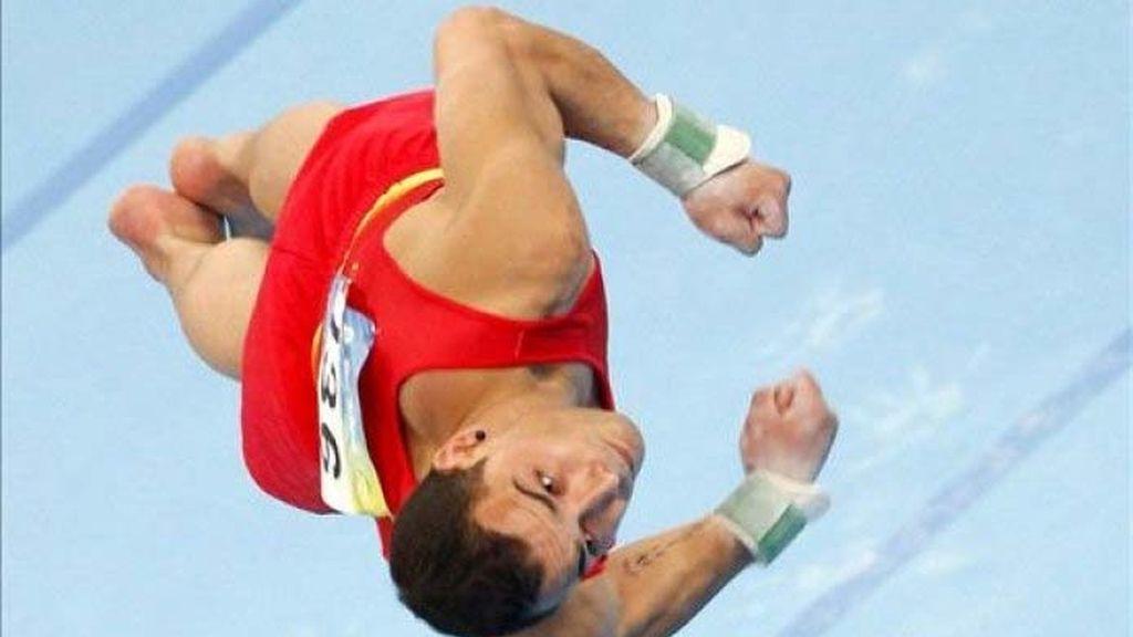 El gimnasta Gervasio Deferr consigue la medalla de plata en suelo