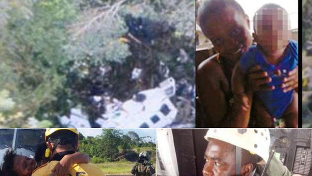 Una mujer y su bebé sobreviven cinco días en medio de la selva tras sufrir un accidente aéreo