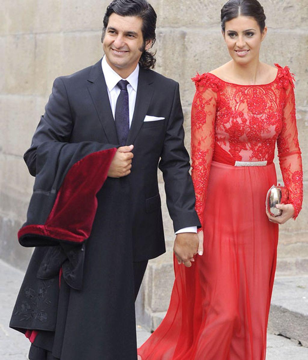 Morante de la Puebla y su mujer, Elisabeth Garrido