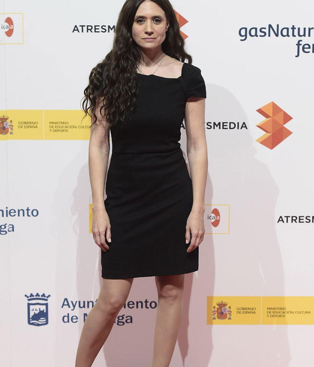 La actriz de 'Hablar', María Botto, con look 'total black'
