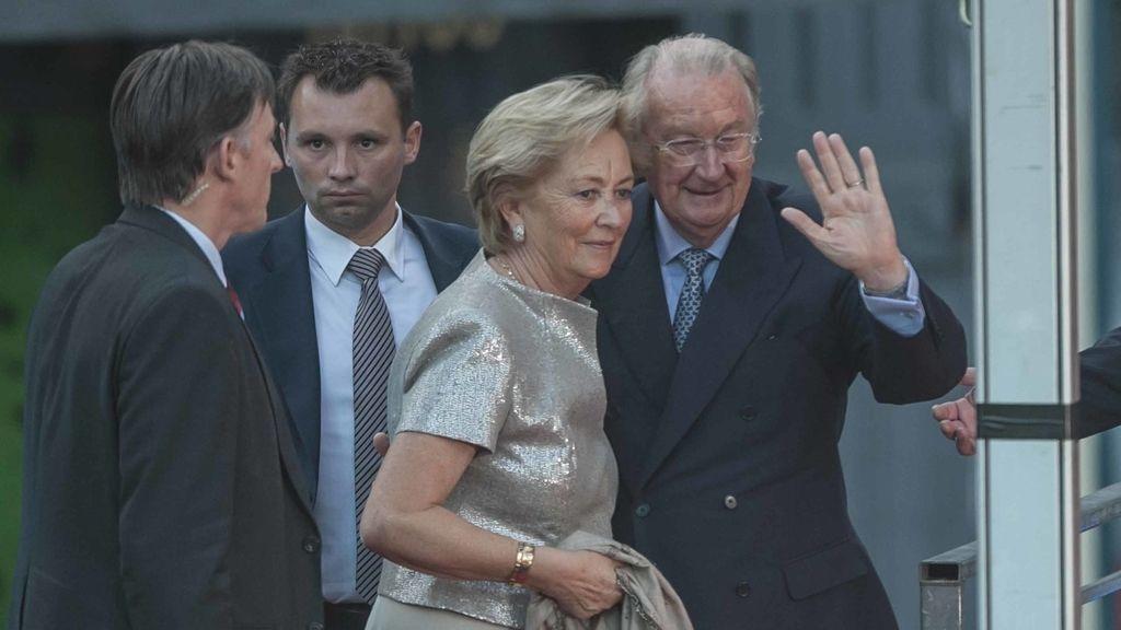 Alberto de Bélgica y su hijo, complicidad y emoción