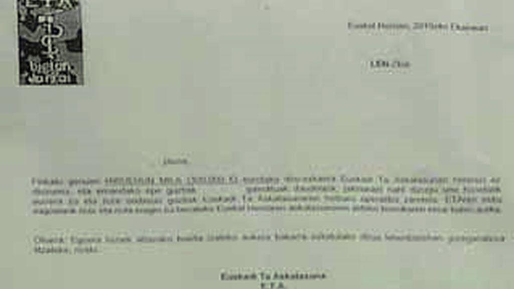 ETA mantiene la extorsión a empresarios pese al alto el fuego que declaró en un comunicado