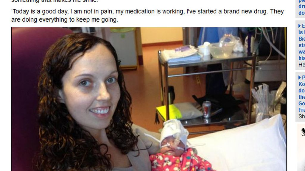 Le diagnostican un cáncer terminal semanas después de quedarse embarazada