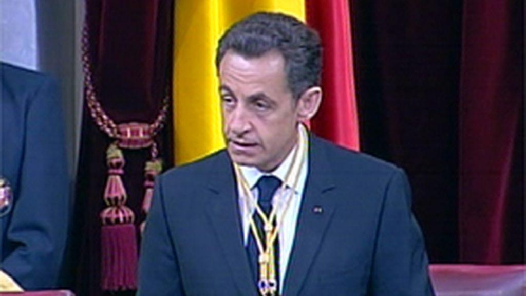 Sarkozy en el Congreso