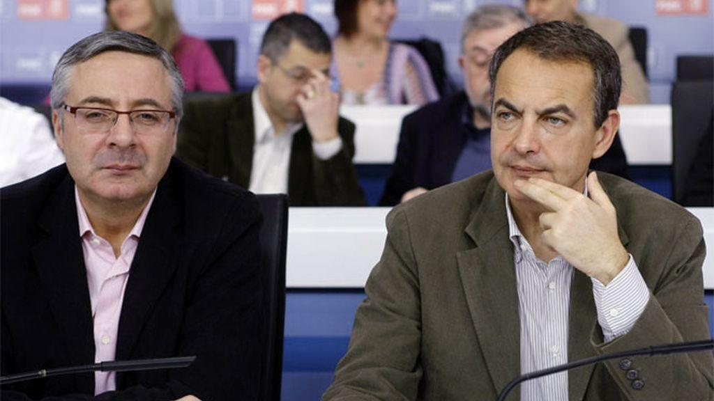 Zapatero y Blanco en el Comité del PSOE