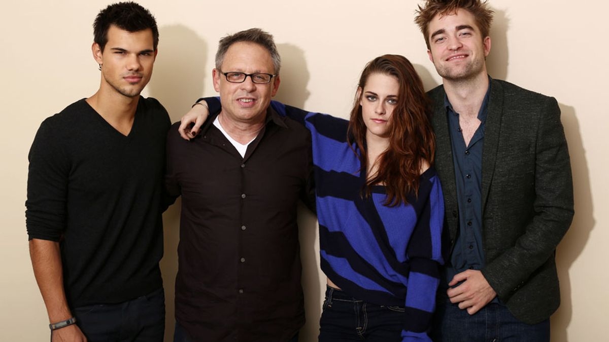 Robert Pattinson, Kristen Stewart, Taylor Lautner protagonistas de la saga Crepúsculo