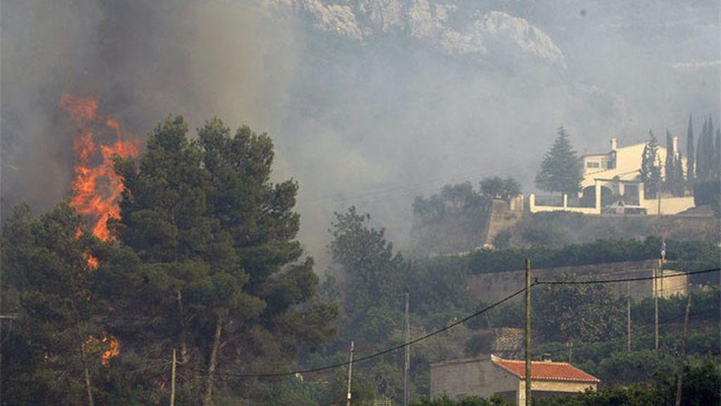 Incendio en la localidad alicantina de Vall D'Ebo