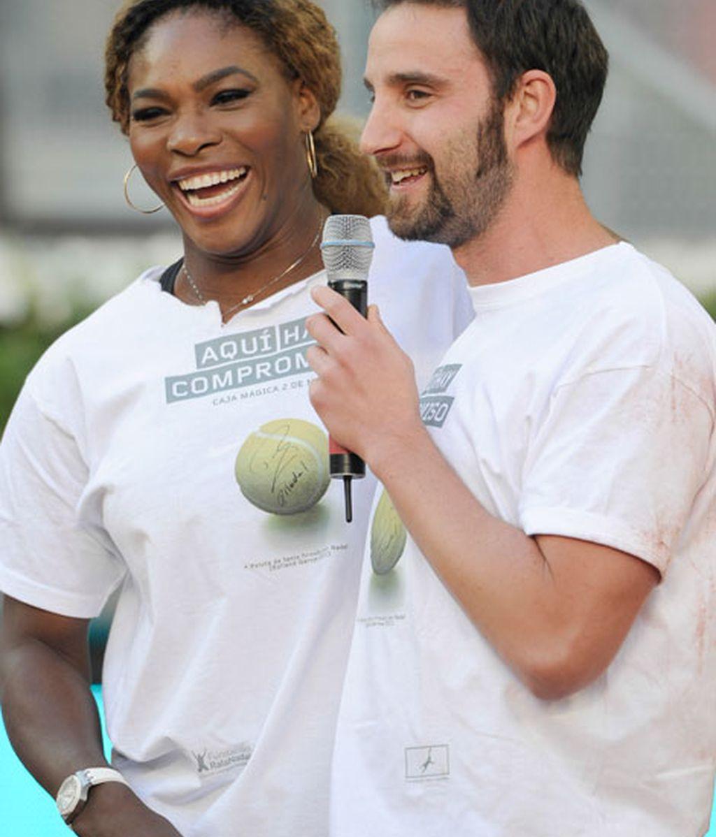 Las risas de Dani Rovira con Serena Williams